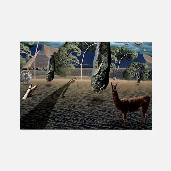 Dali's Llama Rectangle Magnet