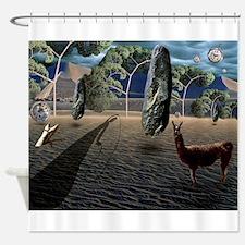 Dali's Llama Shower Curtain