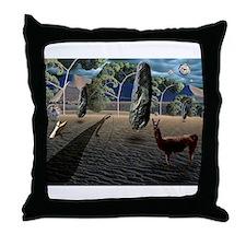 Dali's Llama Throw Pillow