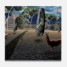 Dali's Llama Tile Coaster
