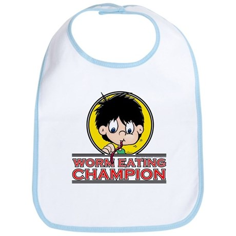 Worm Eating Champion! Bib