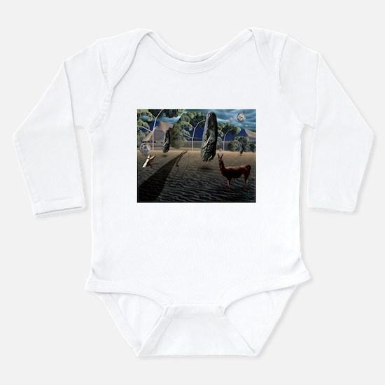 Dali's Llama Long Sleeve Infant Bodysuit