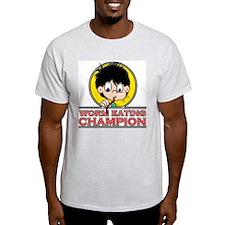 Worm Eating Champion! Ash Grey T-Shirt