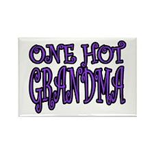One Hot Grandma Rectangle Magnet