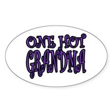 One Hot Grandma Oval Decal