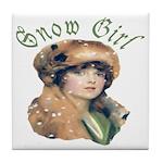 Snow Girl Tile Coaster