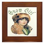 Snow Girl Framed Tile