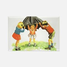 Sally, Dick and Jane Rectangle Magnet