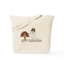 Cockapoo and Turkey Happy Thanksgiving Tote Bag