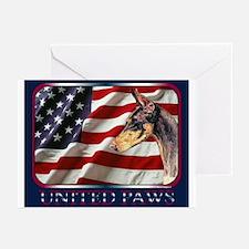 Doberman Pinscher Flag Greeting Cards(6)