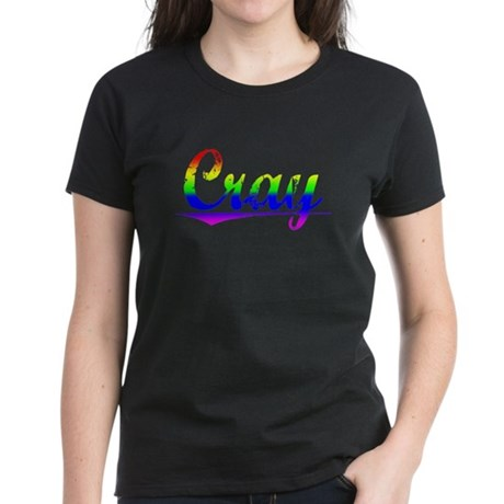 Cray, Rainbow, Women's Dark T-Shirt