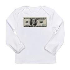 100 Dollar Bill Long Sleeve Infant T-Shirt