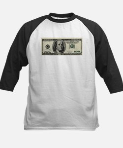 100 Dollar Bill Kids Baseball Jersey