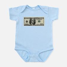 100 Dollar Bill Infant Bodysuit