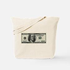 100 Dollar Bill Tote Bag