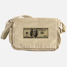 100 Dollar Bill Messenger Bag