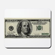 100 Dollar Bill Mousepad