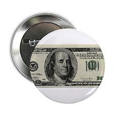 "100 Dollar Bill 2.25"" Button"