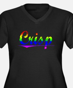 Crisp, Rainbow, Women's Plus Size V-Neck Dark T-Sh
