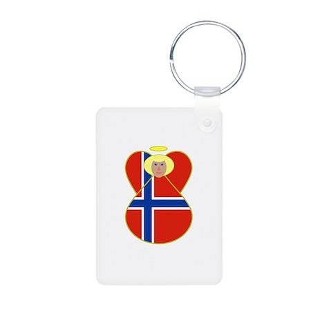 Small Norwegian Flag Angel Blonde Hair Aluminum Ph