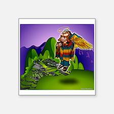 """Angel de Machu Picchu Square Sticker 3"""" x 3"""""""