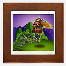 Angel de Machu Picchu Framed Tile
