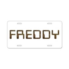 Freddy Circuit Aluminum License Plate