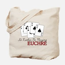 Euchre Playing Tote Bag