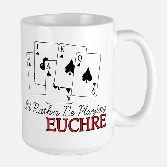Euchre Playing Large Mug