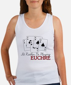 Euchre Playing Women's Tank Top
