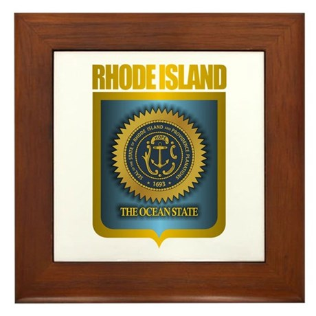 Rhode Island Seal (B) Framed Tile