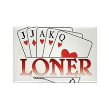Euchre Loner Rectangle Magnet
