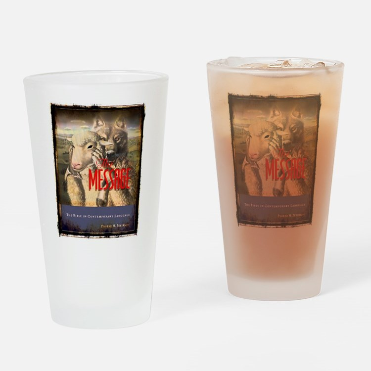 The Message Bible Warning Drinking Glass