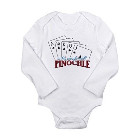 Pinochle Cards Long Sleeve Infant Bodysuit