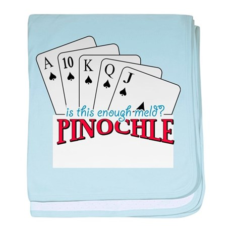 Pinochle Cards baby blanket