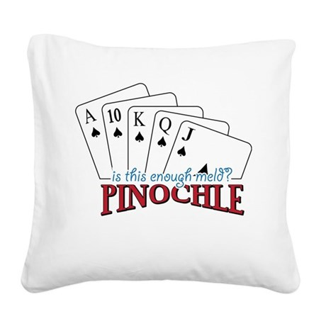 Pinochle Cards Square Canvas Pillow