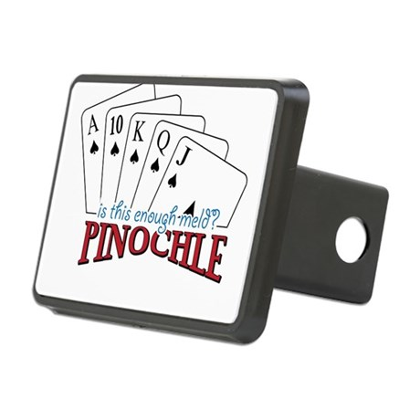 Pinochle Cards Rectangular Hitch Cover