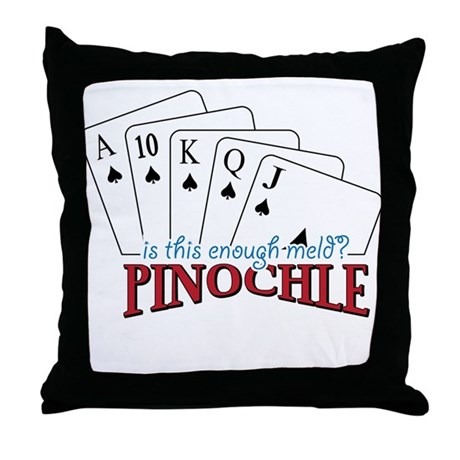 Pinochle Cards Throw Pillow