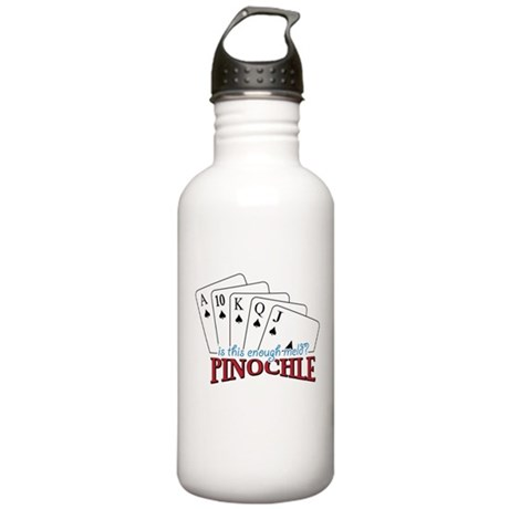 Pinochle Cards Stainless Water Bottle 1.0L