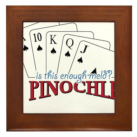 Pinochle Cards Framed Tile