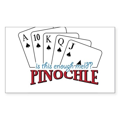 Pinochle Cards Sticker (Rectangle)