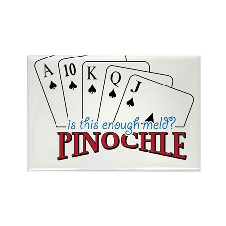 Pinochle Cards Rectangle Magnet