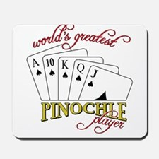 Pinochle Player Mousepad
