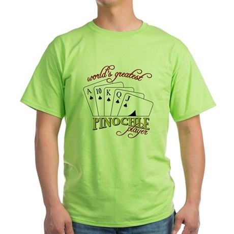 Pinochle Player Green T-Shirt