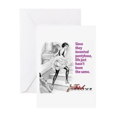 pantyhose Greeting Cards