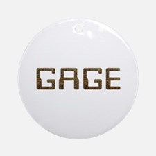 Gage Circuit Round Ornament