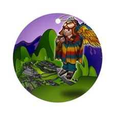 Angel de Machu Picchu Ornament (Round)