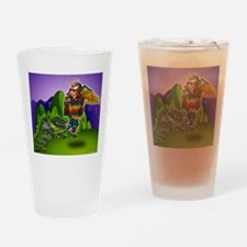 Angel de Machu Picchu Drinking Glass
