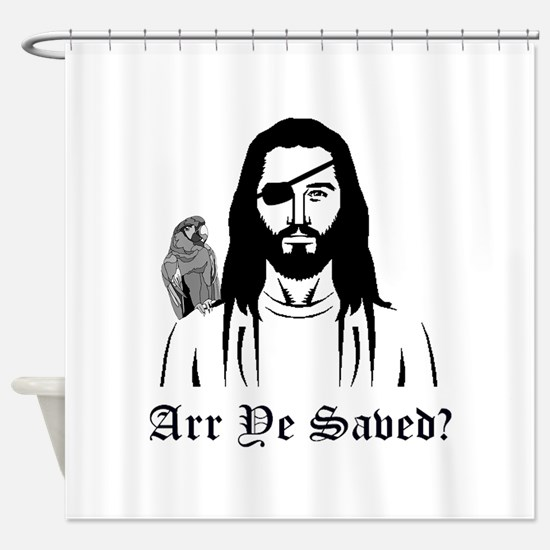 Pirate Jesus Shower Curtain