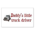 Little Truck Driver Sticker (Rectangle)